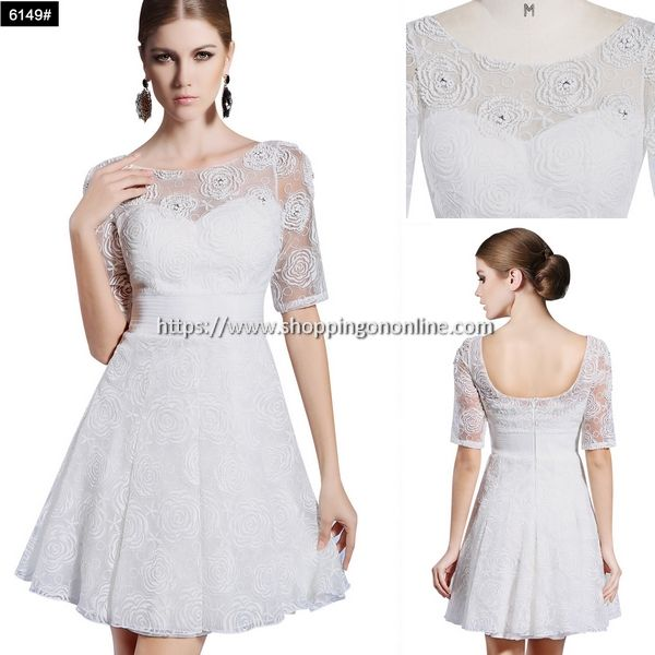 White Cocktail Dress With Short Sleeves $191.99 (was $239.99) Click here to see more details http://shoppingononline.com/cocktail-dresses/white-cocktail-dress-with-short-sleeves.html #WhiteCocktailDress #ShortSleeves #WhiteShortDress #WhiteDress #ShortSleevesCocktailDress #ShortCocktailDress #CocktailDress