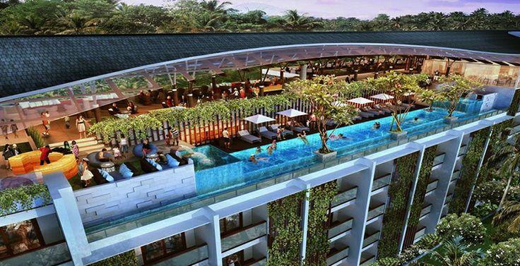Roof Top Pool & Sky Restaurant Meritus Seminyak Bali  www.madepropertybali.com