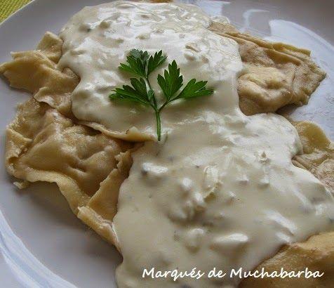 Estos Raviolis hechos con pasta fresca casera son una delicia, eso si, hay que tomarse su tiempo, pues llevan un buen rato, pero al final...