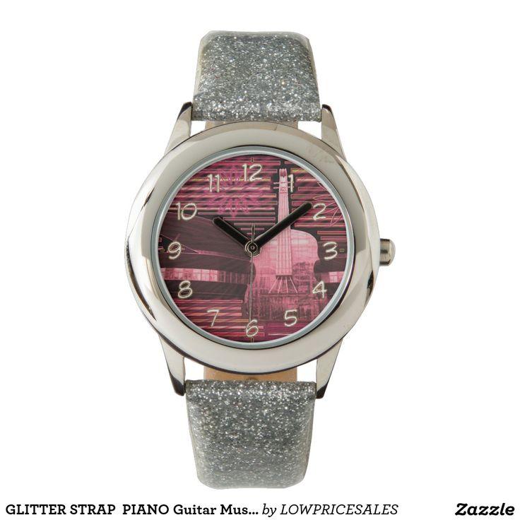 GLITTER STRAP  PIANO Guitar Music Wristwatch