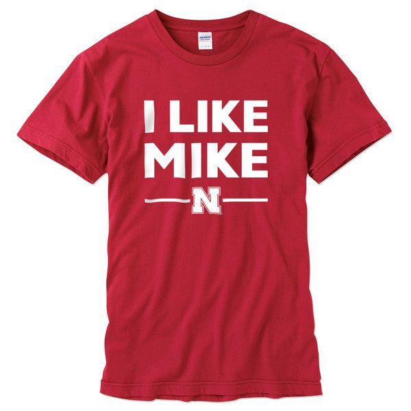 """How can you not """"Like Mike""""! We are pumped for the new era in Husker football with Head Coach, Mike Riley. Show your love and support of the new coach with this straight forward Husker tee. I Like Mike.  100% cotton Screen print graphic $19.99"""