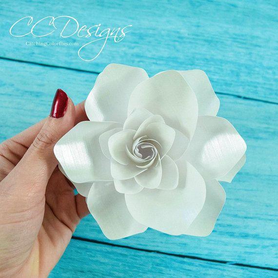 Paper Gardenias Paper Flower Gardenias Flower Templates Etsy Paper Flower Template Flower Template Paper Flowers