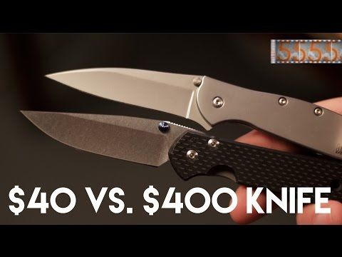 $40 vs. $400 Knife: What's the Difference? Kershaw Leek & Chris Reeve Sebenza Knife Art 21 - YouTube