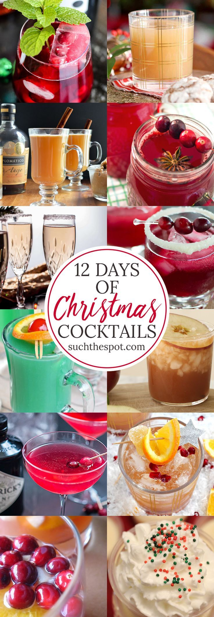 The best Christmas cocktail recipes take a grown-up spin on favorite holiday flavors. Check this list (twice) for something to serve for a crowd at your Christmas party! #Christmas #cocktails