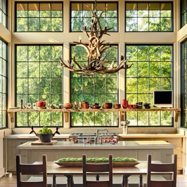 19 Must See Practical Kitchen Island Designs With Seating: 17 Best Images About Antler Chandelier On Pinterest