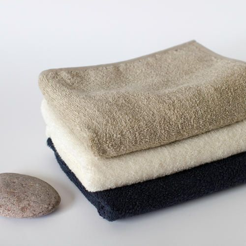 Linen Cotton Terry Bath Towels in Natural, Off White and Graphite Colours by THEPICKYOU