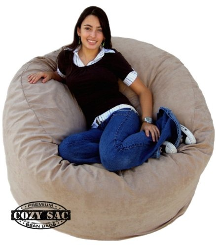 The Cozy Sac foam chair is the most comfortable place to sit anywhere. They are filled with the softest virgin urethane foam available. The urethane foam will spring back to normal size after every use and not go flat like the traditional bean bag chairs. The Cozy Sac foam chair will conform to you body like no other chair on the market. You can choose from 16 decorator colors. The material is made of 100% polyester made to feel like suede...