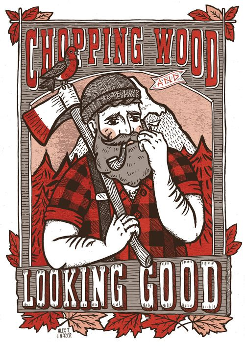 An awesome woodsman by by Alex T Frazer #graphicdesign #woodcuts #art