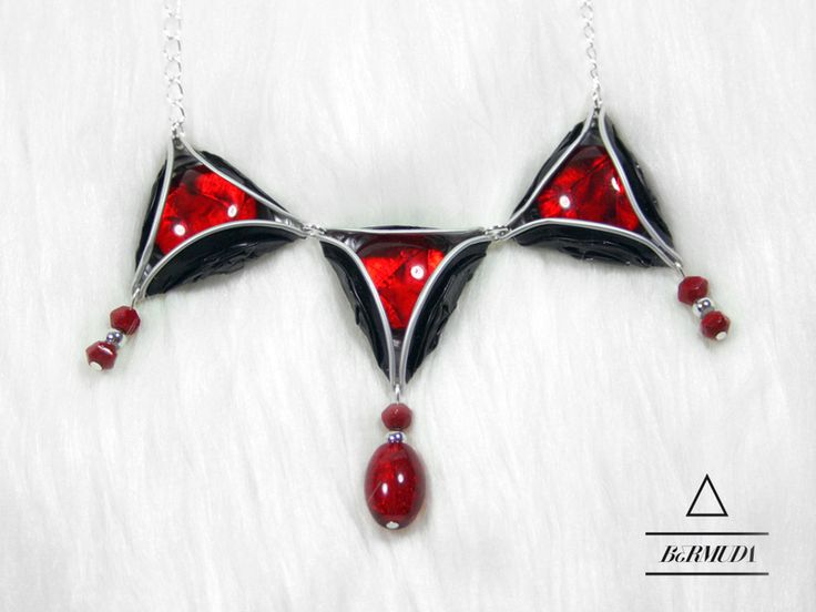 Bermuda Halskette mit Glaslinsen von Fanori Bijou auf DaWanda.com