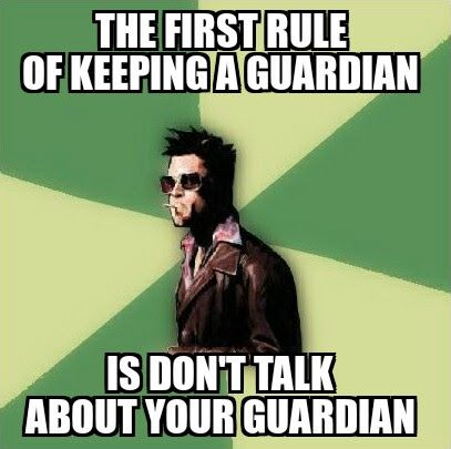 #Ingress #Memes #FightClub - The First Rule of Keeping a Guardian