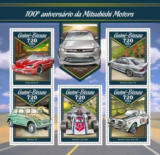 GB17006a 100th anniversary of Mitsubishi Motors (Dodge Stealth R/T; Mitsubishi 500; Mitsubishi Colt F2000; Mitsubishi Galant VR4; Mitsubishi Lancer 1600 GSR)