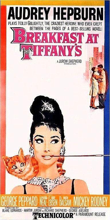"Audrey Hepburn, Print of old Movie Film Poster - ""BREAKFAST AT TIFFANY'S"" on Etsy, $7.95"