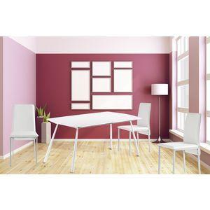 Kit a faire - Table extensible moderne 160/200cm laque blanc pas cher - Rueducommerce.fr