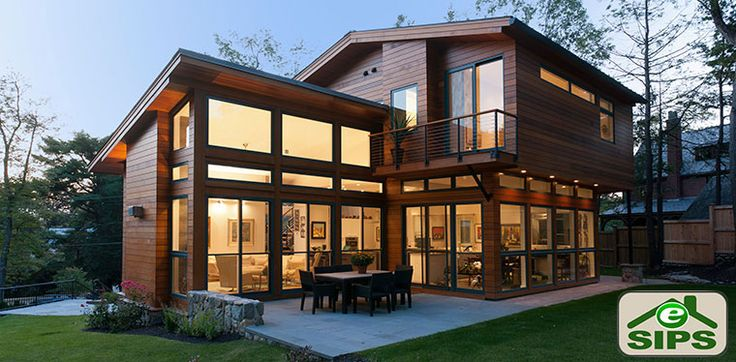 27 best prefab sips houses images on pinterest facades for Sips cabin