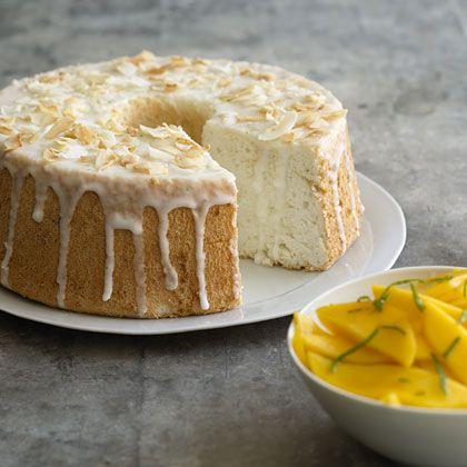 Lime-Glazed Angel Food Cake Recipe - Health Mobile