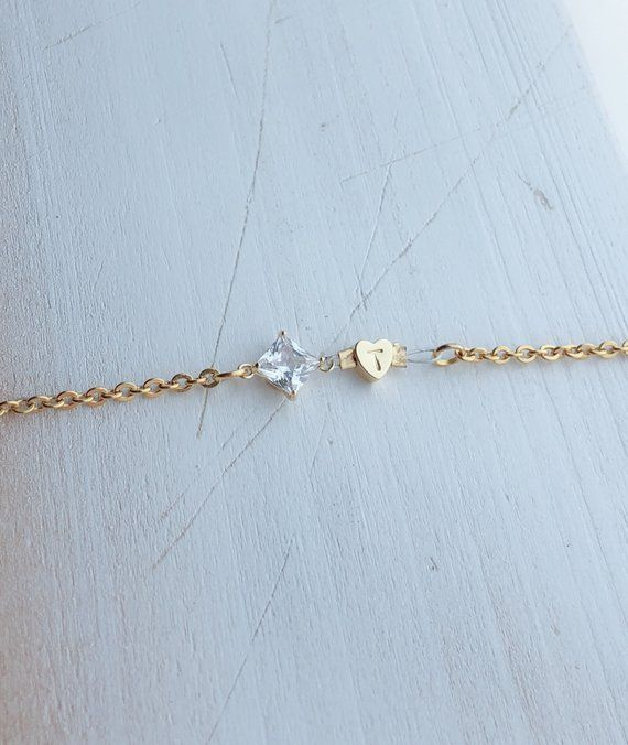 Customized Gemstone Bracelet Birthday Gifts For Her Initia