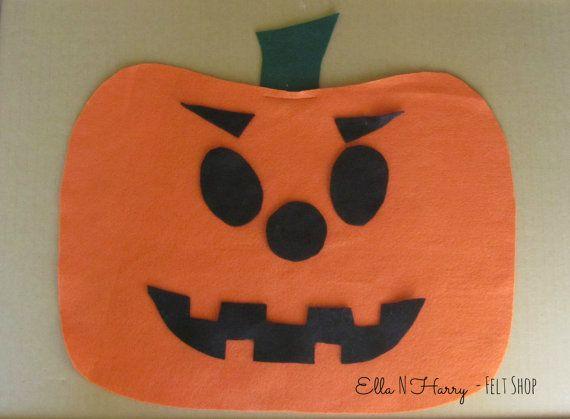 JackoLantern Felt Board and Face Pieces by EllaNHarry on Etsy, $15.00
