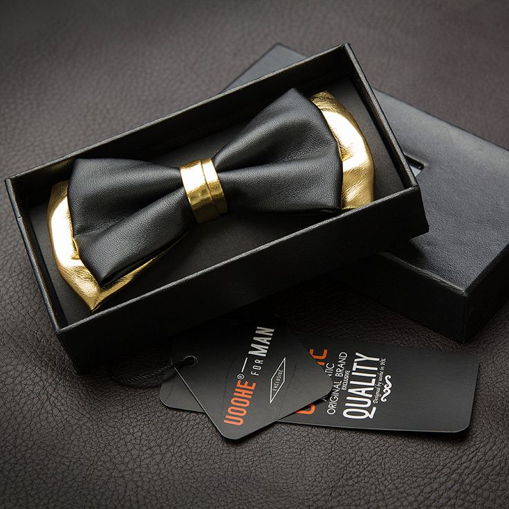 Free Shipping High quality men bow tie black gold color male leather bow tie PU butterfly tie formal suit wedding groom tie US $18.80
