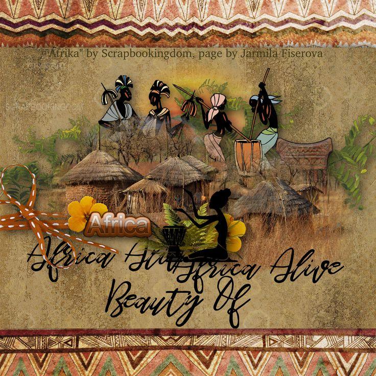 """Afrika"" by Scrapbookingdom, https://www.etsy.com/listing/520480509/african-digital-scrapbook-kit-afrika?ref=shop_home_feat_3, photo Pixabay"