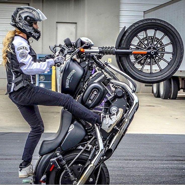 Real Motorcycle Women - redlinebabez