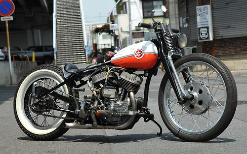 Bobber Inspiration | Flathead custom #bobber | Bobbers and Custom Motorcycles | twowheelcruise July 2014