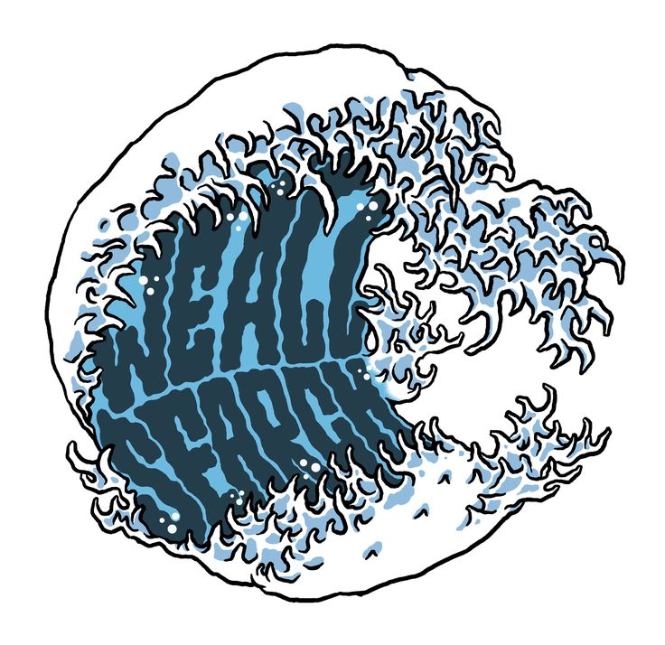 'We all search' wave illustration  www.totcph.com