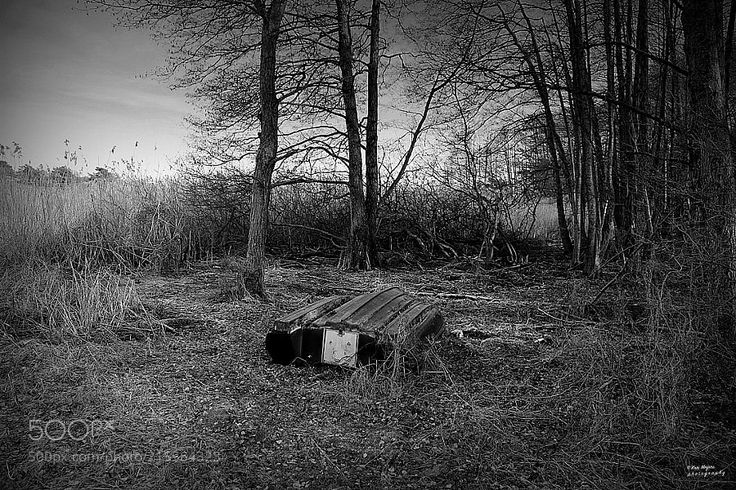 The dead boat .. - Left in the woods ... From  Hvaler very south of Norway