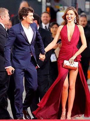 I would like to introduce you to the most attractive couple in the world: Miranda Kerr and Orlando Bloom.