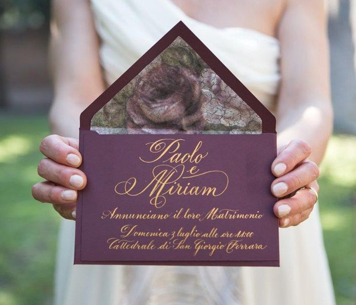 Wedding Invitations Borgogne Lux