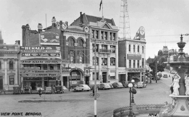 View Point in central Bendigo, Victoria 1955