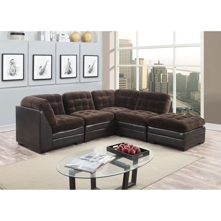 Best 25+ Brown sectional ideas on Pinterest | Leather living room furniture Leather sectional and Grey basement furniture  sc 1 st  Pinterest : chocolate sectional couch - Sectionals, Sofas & Couches