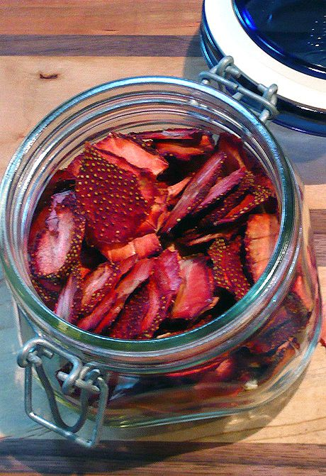 Preserving Strawberries via Freezing, Drying, Pureeing, &/or Canning.