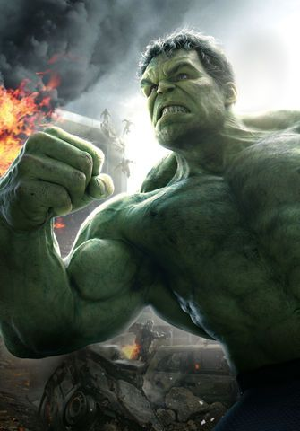 Avengers: Age of Ultron textless Hulk character poster.
