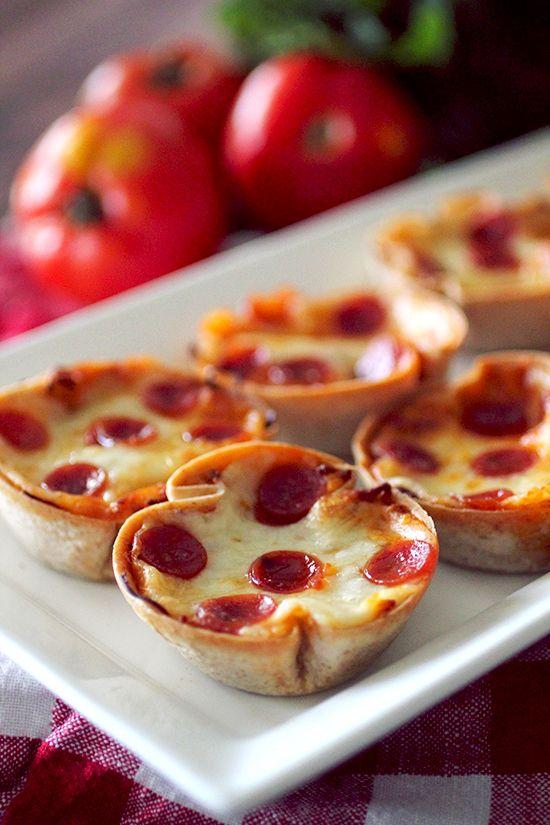 Mini Deep Dish Pizzas  Servings per recipe: 12 Amount per serving(one pizza): 66 calories