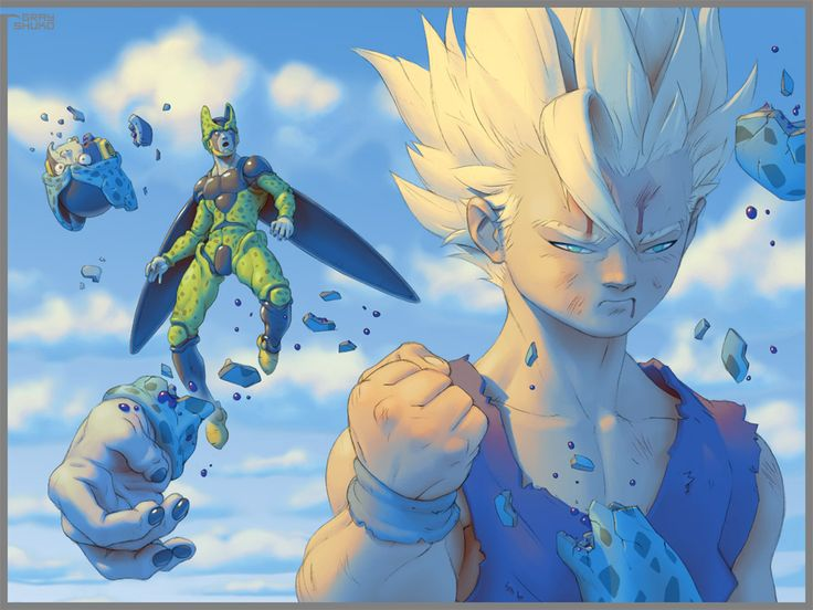 DBZ- Gohan / Cell By Gray Shuko