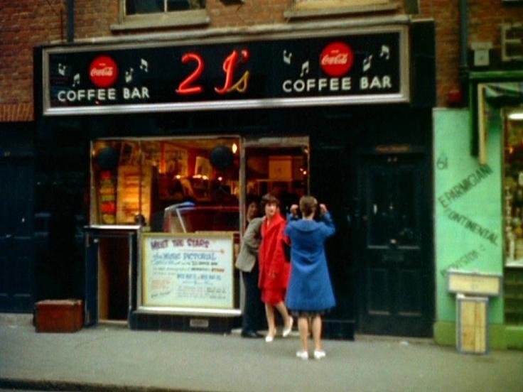 Old Compton Street (1 de enero de 1959): Coffee Bar at Old Compton Street