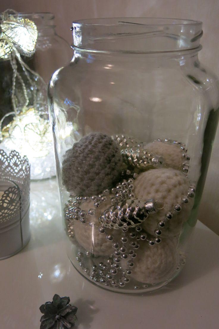 Ornaments in a jar