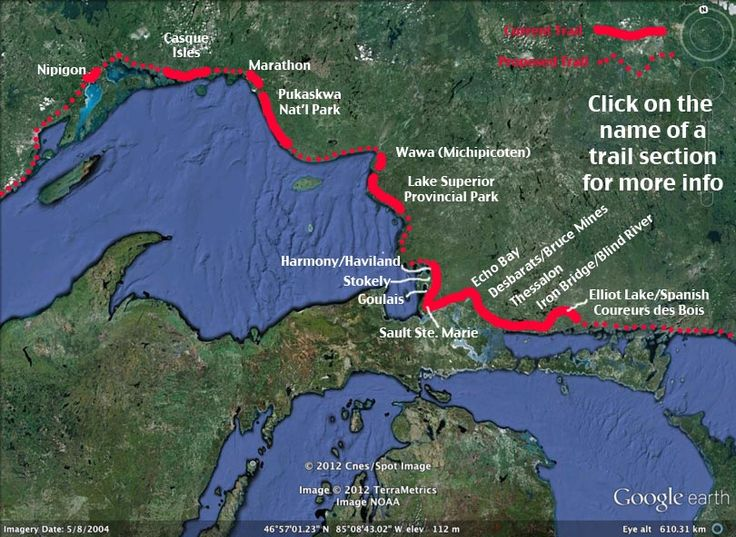 Map of the Voyageur Trail (One Day I would like to do this trial and then the Bruce Trial all in one go)