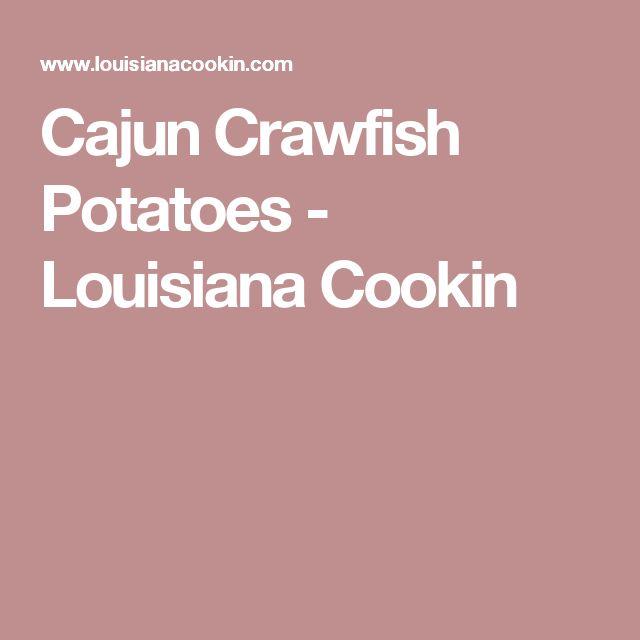 Cajun Crawfish Potatoes - Louisiana Cookin