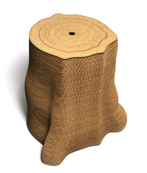 cat scratcher/tree stump (storage inside).