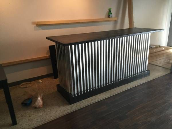 The Counter Sr. - 8 foot corrugated metal bar, sales counter ...