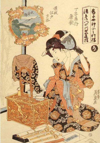 ブログの森: 浮世絵で見る江戸の化粧アーカイブ