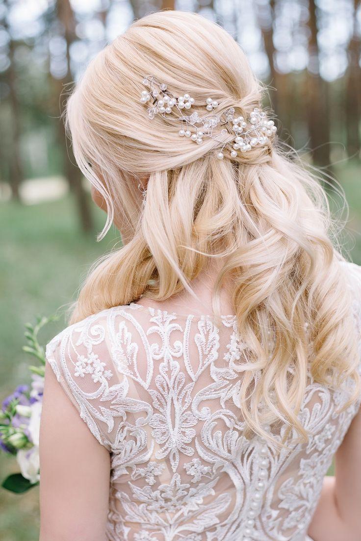 25 romantische Brautfrisuren mit Haarschmuck