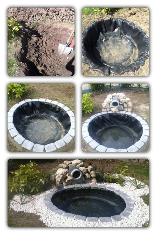 Etang avec vieux pneus bassins pinterest - Bassin avec un pneu pau ...