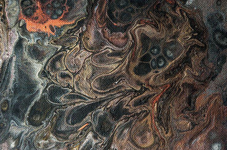 Luminous Nights 3. Abstract Fluid Acrylic Painting Photograph by Jenny Rainbow