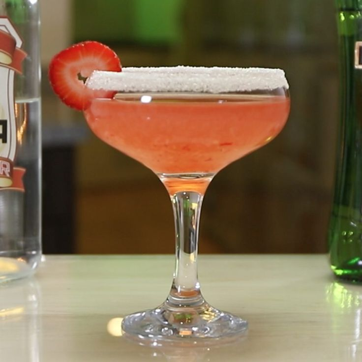 STRAWBERRY MARTINI 1 1/2 oz. (45ml) Vodka 1/2 oz. (15ml) Dry Vermouth Splash Simple Syrup Garnish: Strawberries/Sugar PREPARATION 1. Rim edge of martini glass in sugar and set aside. 2. Place strawberries in base of mixing glass and add a splash of simple syrup. Muddle well. 3. Add ice to glass and pour over vodka …