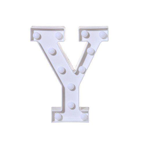 QUINTRA Alphabet Letter Lights LED Light Up White Plastic Letters Standing Hanging A-Z & Arrow (Y) #QUINTRA #Alphabet #Letter #Lights #Light #White #Plastic #Letters #Standing #Hanging #Arrow