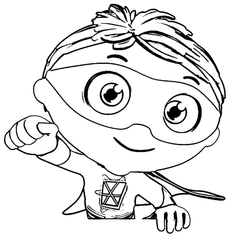 hi my friends you can find here super why coloring page exactly different