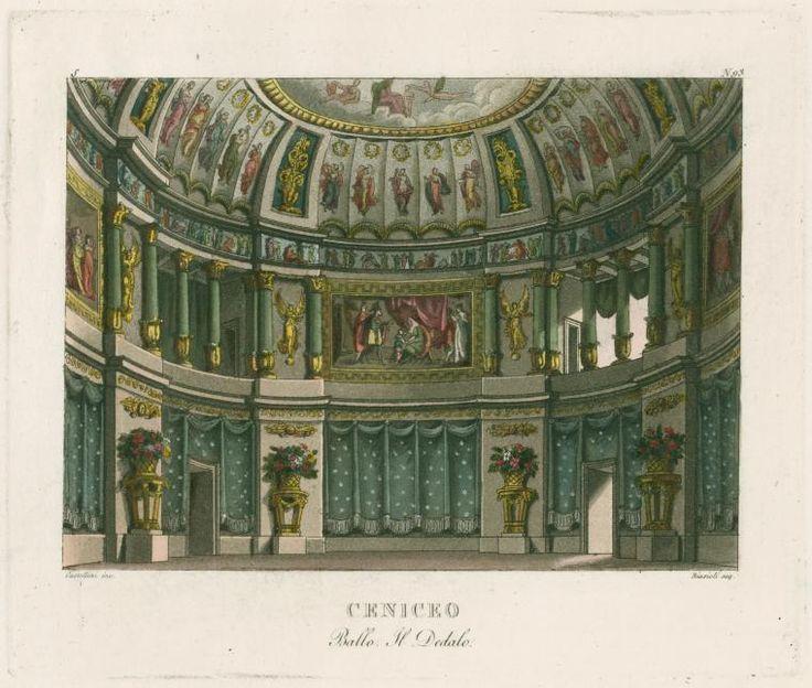 Ceniceo. Ballo, Il Dedalo. Castellini inc. Biasioli acq. [after a set design by Sanquirico] [Raccolta di varie decorazioni sceniche inventate ed eseguite...] ([1818])