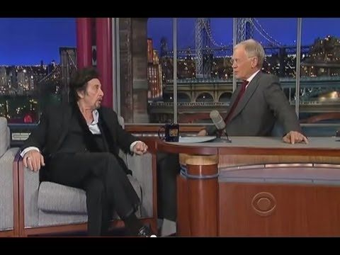 Kevin Spacey impersonates Al Pacino in front of Al Pacino - Letterman - I think my favorite part of this is actually that Al Pacino dances with Kevin.